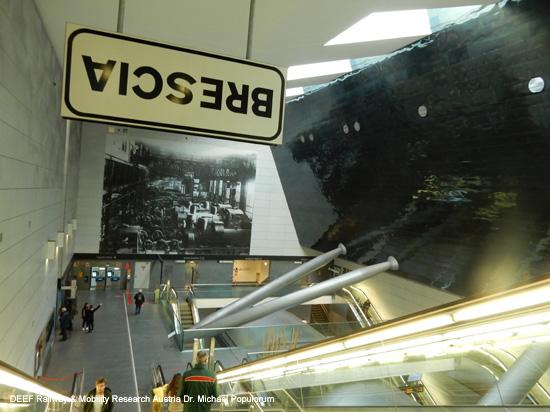 Metropolitana metro u bahn brescia italien autonom for Raumgestaltung zug