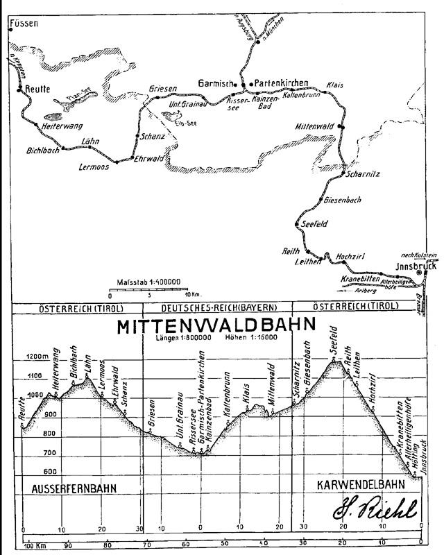 Mittenwaldbahn Karwendelbahn Seefeld Scharnitz Mittenwald
