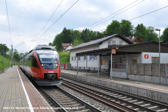 westbahn talent haltestelle wallersee foto bild picture